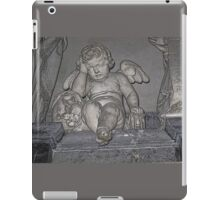 France. Amiens. Amiens Cathedral. Weeping Angel. iPad Case/Skin