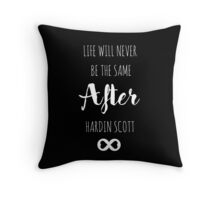 After - Hardin Scott - Black & White Throw Pillow