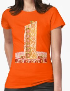 Strawberry cake for Christmas Womens Fitted T-Shirt