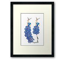 GLAM IN BLUE Framed Print