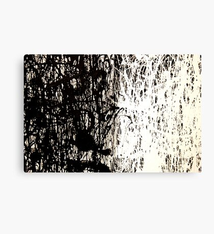 Modern Abstract Jackson Pollock Painting Original Art Titled: Black & White Canvas Print