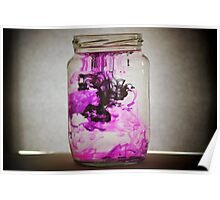 Purple and Black Ink Jar Poster