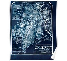 Civil War Maps 0841 Map of the battle-field of Perryville Ky October 8th 1862 Inverted Poster