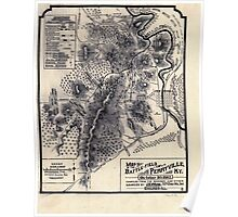 Civil War Maps 0841 Map of the battle-field of Perryville Ky October 8th 1862 Poster
