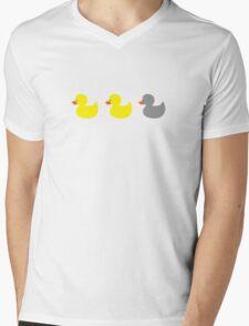 Duck, duck, gray duck! Mens V-Neck T-Shirt