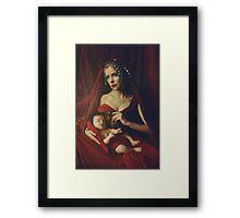 mary & baby girl Framed Print