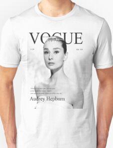 Audrey Hepburn for VOGUE Unisex T-Shirt