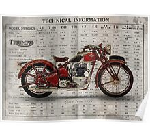 Triumph Speed Twin 1939 Poster