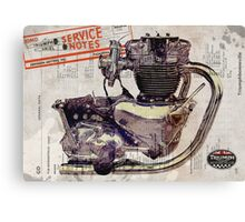 Triumph Bonneville Engine Canvas Print