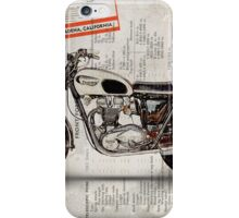 Triumph Bonneville t120 1966 iPhone Case/Skin