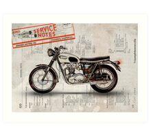 Triumph Bonneville t120 1966 Art Print