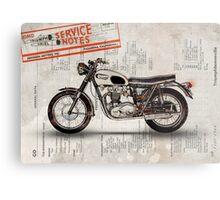 Triumph Bonneville t120 1966 Metal Print