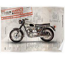Triumph Bonneville t120 1966 Poster