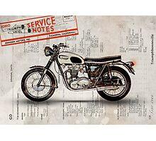 Triumph Bonneville t120 1966 Photographic Print
