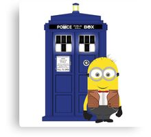 Police Box Minion Canvas Print