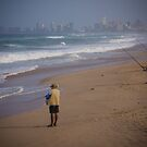 Durban Beach Fishing by Tim Cowley