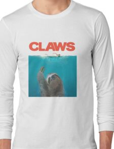 Sloth Claws Parody Long Sleeve T-Shirt