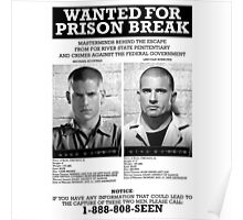 Wanted For Prison Break Poster