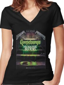 Monster Blood 3 Goosebumps Story Women's Fitted V-Neck T-Shirt