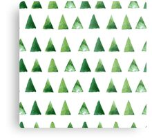 Seamless pattern with grunge green triangles Metal Print