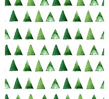 Seamless pattern with grunge green triangles Photographic Print