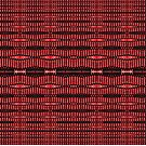 Modern Red Black Tech Ovals Pattern  by donnagrayson
