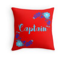 Captain - The Lunar Chronicles - Red Throw Pillow