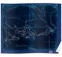 Civil War Maps 2169 Pencil sketch of the Atlantic Coast from Charleston South Carolina to Savannah Georgia Inverted Poster