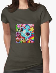 Blue pony Womens Fitted T-Shirt