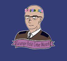 Grumpy Bald Cyber Wizard Unisex T-Shirt