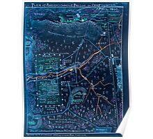 Civil War Maps 1300 Plan of Andersonville Prison or ''Camp Sumter'' April 1864 Inverted Poster