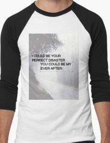 Marianas Trench Ever After Text Men's Baseball ¾ T-Shirt