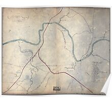 Civil War Maps 0320 Columbia Tenn and vicinity Poster