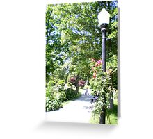 Halifax Public Gardens, Nova Scotia, Canada Greeting Card