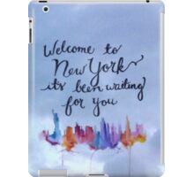 Taylor Swift Welcome To New York iPad Case/Skin