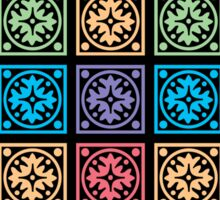 Colorful squares pattern Sticker