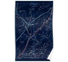 Civil War Maps 1942 Chattanooga region Inverted Poster