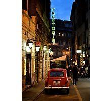 Renault 4, Via Sant'Andrea delle Fratte, Rome Photographic Print