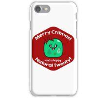 Merry Critmas & Happy Natural 20! Gamer Christmas - Gelatinous Cube iPhone Case/Skin