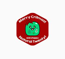 Merry Critmas & Happy Natural 20! Gamer Christmas - Gelatinous Cube Men's Baseball ¾ T-Shirt
