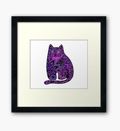 cat #4 Framed Print