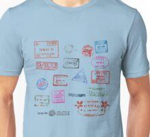 Passport Stamp Vintage Unisex T-Shirt