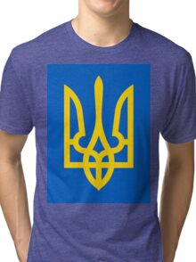 Ukraine Coat of Arms Tri-blend T-Shirt