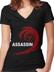 Assassins of the Red Veil Women's Fitted V-Neck T-Shirt