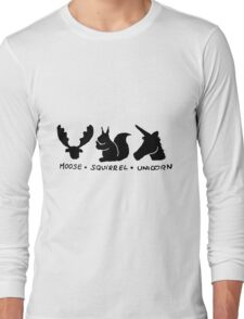 Moose Squirrel Unicorn Long Sleeve T-Shirt
