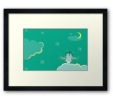 Glowing Dream Moon Fairy Framed Print