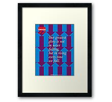 Confucius Inspirational Quote Framed Print