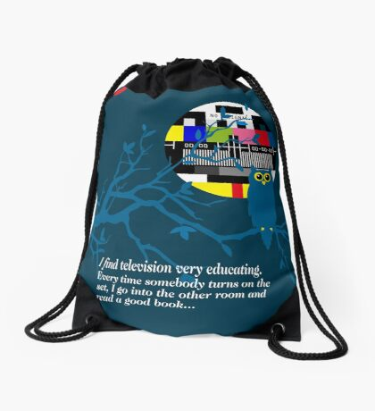 Groucho Marx Quote Drawstring Bag