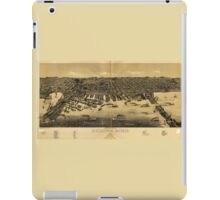 Perspective Map of Duluth Minnesota (1887) iPad Case/Skin