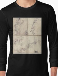 Civil War Maps 1954 Five sketches along the Valley Pike in the vicinity of Fishers Hill Strasburg Cottontown Mount Hope Toms Brook etc Long Sleeve T-Shirt